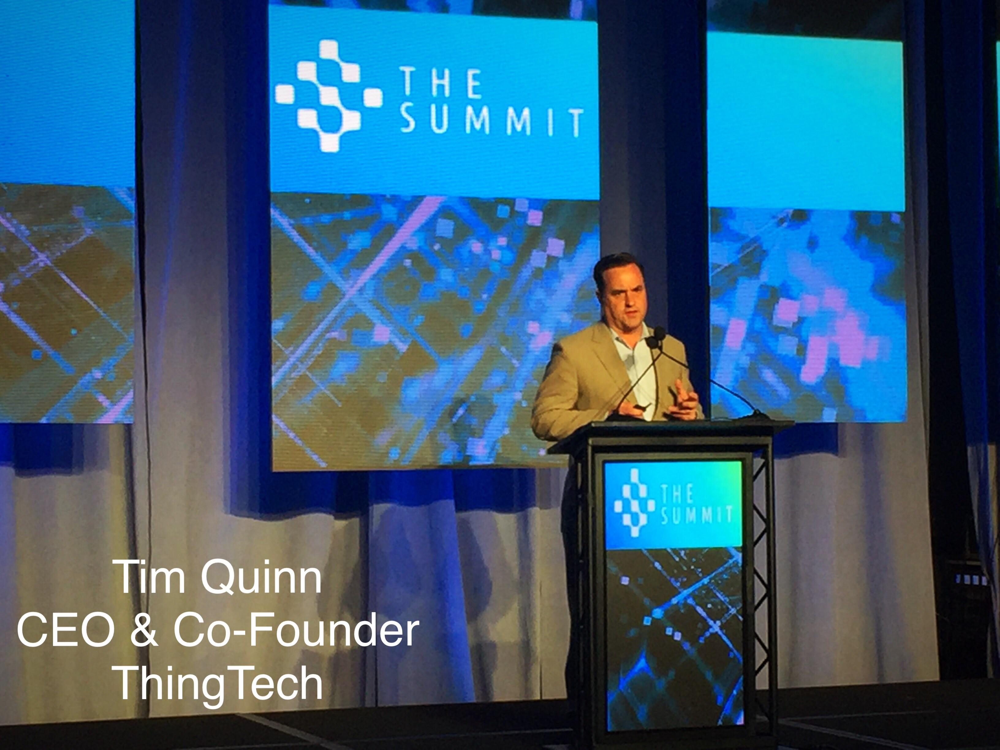 Tim Quinn, ThingTech, TAG, The Summit 2018, ThingTech, 2018 Top 10 Innovation Award
